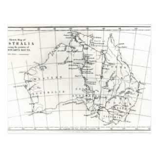 Lageskizze von Australien Postkarte