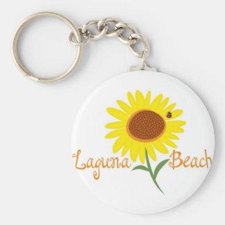 Laguna Beach-Sonnenblume-T-Stück Schlüsselanhänger