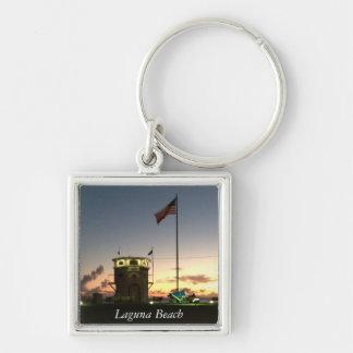 Laguna Beachsonnenuntergang keychain Schlüsselanhänger