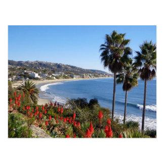Laguna-Strand Kalifornien Postkarte