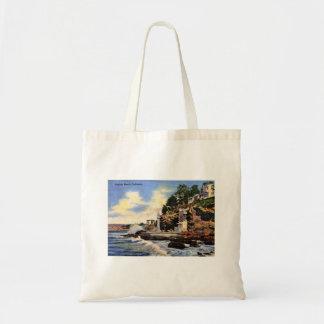 Laguna-Strand, Kalifornien, Vintage Ansicht Tragetasche