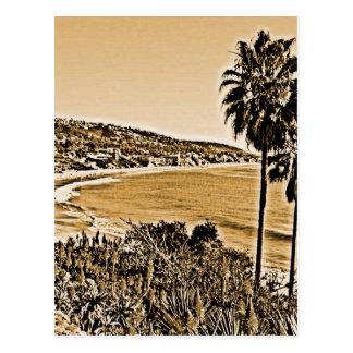 Laguna-Strand Vintag Postkarte