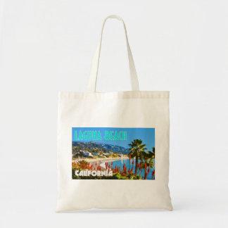 Laguna-Strand-Vintage Reise-Plakat-Art Tragetasche