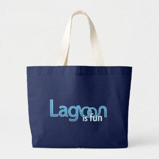 Lagune ist Spaß-Logo Jumbo Stoffbeutel