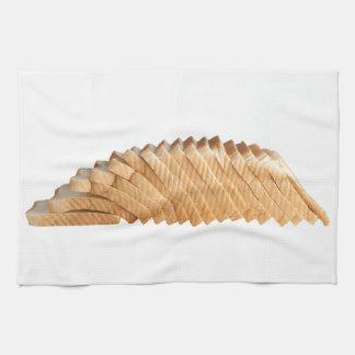 Laib des geschnittenen Brotes Handtuch