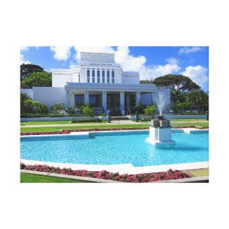 Laie, mormonischer Tempel Hawaiis Leinwanddruck