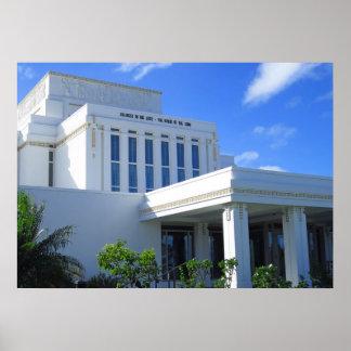 Laie, mormonischer Tempel Hawaiis Poster