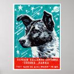 Laika 1957 der Raum-Hund Poster