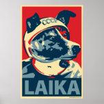Laika der Raum-Hund: Obama-Parodieplakat