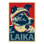 Laika der Raum-Hund: Obama-Parodieplakat Poster