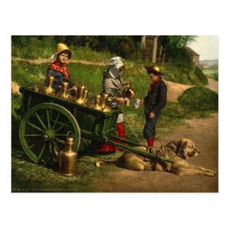 Laitiere Bruxelloise no2 Postkarte
