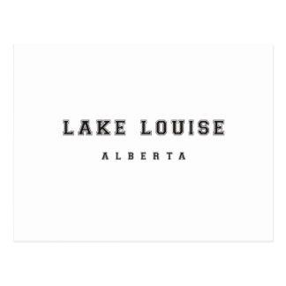 Lake Louise Alberta Kanada Postkarte