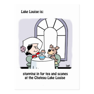 Lake Louise ist: das Chateau Postkarte