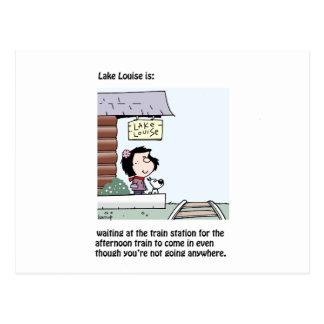 Lake Louise ist: eine Karte Graham Harrop