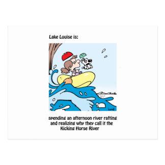 Lake Louise ist: eine Reise auf dem tretenden Postkarte