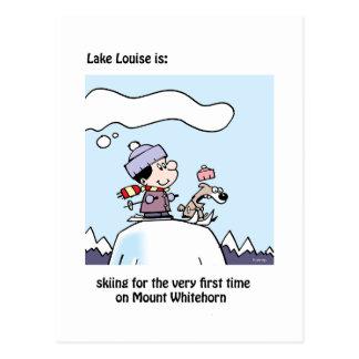 Lake Louise ist: Ski fahrender Berg Whitehorn Postkarte