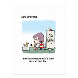 Lake Louise ist: Treffen der Einheimischen Postkarte