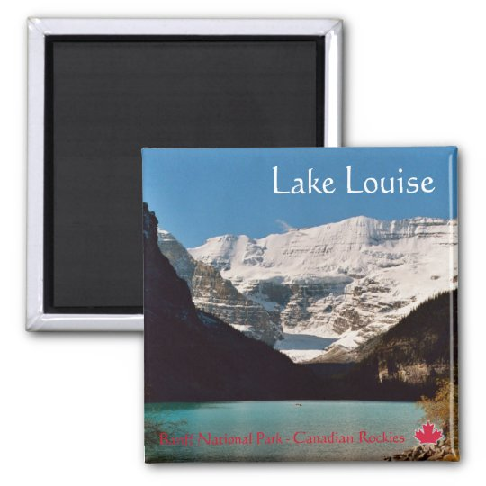 Lake Louise Quadratischer Magnet