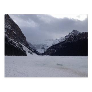 Lake Louise vor dem Tauwetter Postkarte