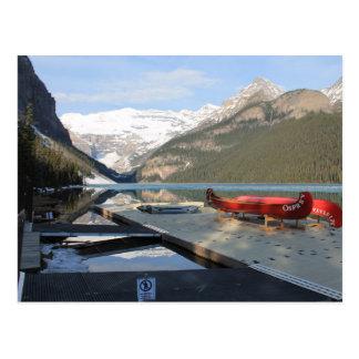 Lake- LouiseKanu-Dock, Alberta, Kanada, Postkarte