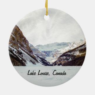 Lake- Louiseweihnachtsverzierung Rundes Keramik Ornament