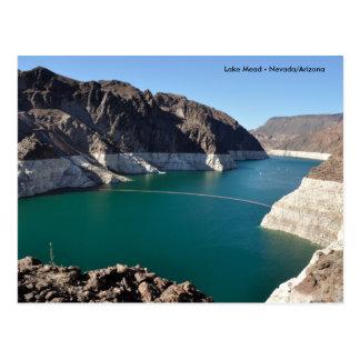 Lake Mead nahe Hooverdamm Postkarte
