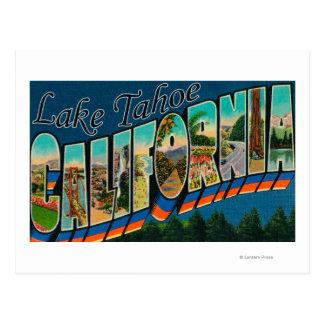 Lake Tahoe, Kalifornien - große Buchstabe-Szenen 2 Postkarten