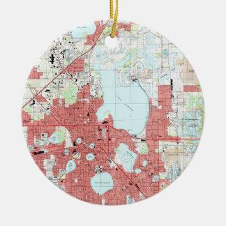 Lakeland Florida Map (1994) Keramik Ornament
