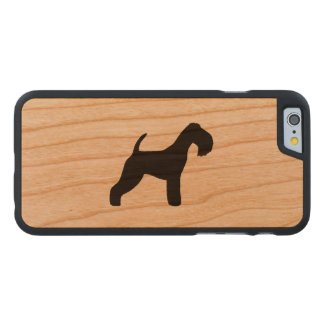 Lakeland-Terrier-Silhouette Carved® iPhone 6 Hülle Kirsche