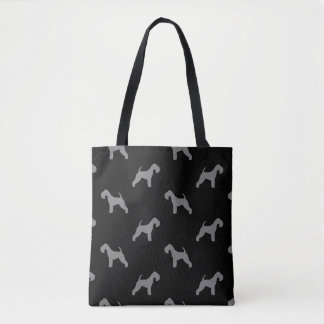 Lakeland-Terrier-Silhouette-Muster Tasche