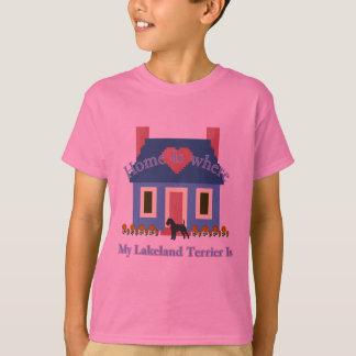 Lakeland-Terrier-Zuhause ist T-Shirt
