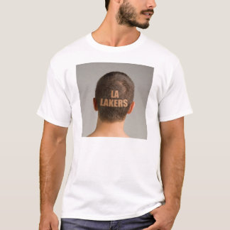 Lakers-Sport-Haarschnitt rasierter HauptT - Shirt