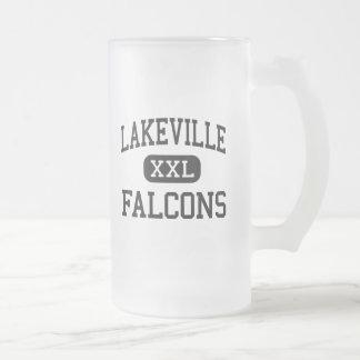 Lakeville - Falcons - hoch - Otisville Michigan Mattglas Bierglas