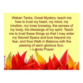 lakota Gebetspostkarte Postkarte