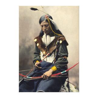 Lakota Hauptc$knochen-halskette Oglala Leinwanddruck