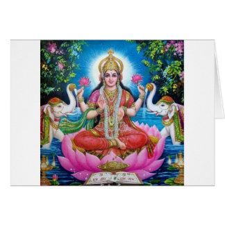Lakshmi Göttin der Liebe, des Wohlstandes und des Grußkarte