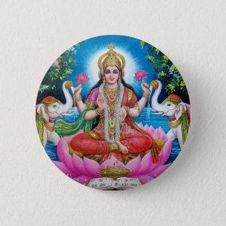 Lakshmi Göttin der Liebe, des Wohlstandes und des Runder Button 5,1 Cm