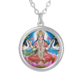 Lakshmi Göttin der Liebe, des Wohlstandes und des Versilberte Kette