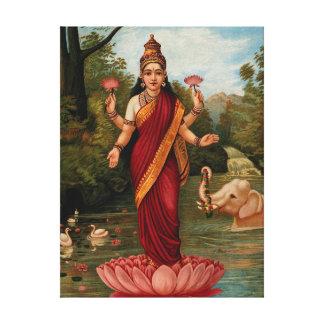 Lakshmi Göttin des Reichtums-Vermögens und des Leinwanddruck