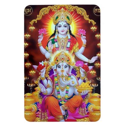 Lakshmi u. Ganesha Magnet