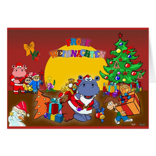 Lalli & Loops Weihnachten Karte