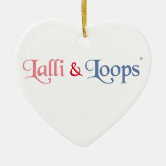 Lalli und Loops Artikel Keramik Herz-Ornament