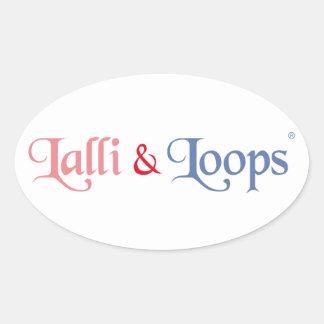 Lalli und Loops Artikel Ovaler Aufkleber