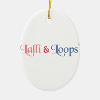 Lalli und Loops Artikel Ovales Keramik Ornament