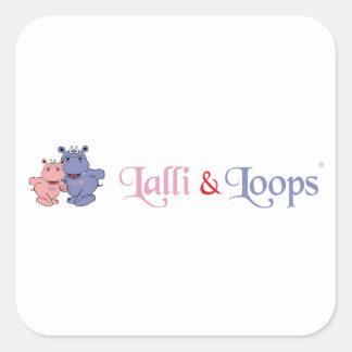 Lalli und Loops Artikel Quadratischer Aufkleber