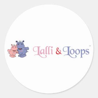 Lalli und Loops Artikel Runder Aufkleber