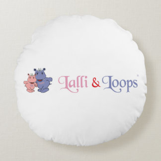 Lalli und Loops Artikel Rundes Kissen