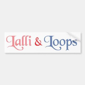 Lalli und Loops Auto Aufkleber
