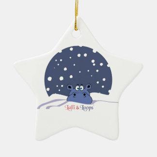Lalli und Loops Keramik Stern-Ornament