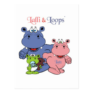Lalli und Loops Postkarte